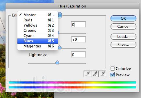 Уроки фотошоп Hue/Saturation