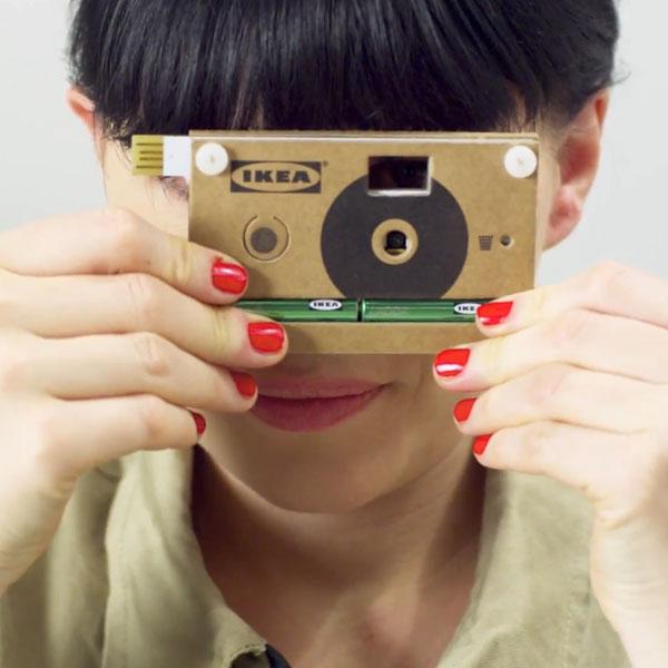 Еще одна «идея от ИКЕЯ»: в  компании создали цифровую фотокамеру из картона