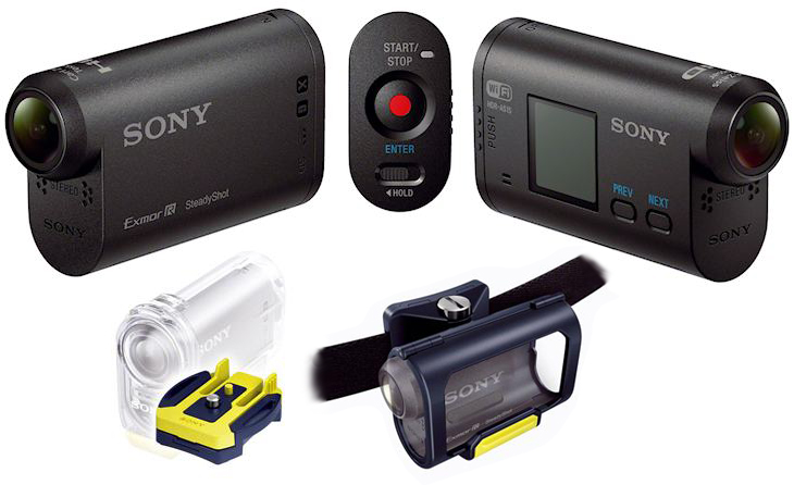 Мини-видеокамера Sony Action Cam для любителей экстрима