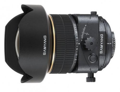Samyang 24mm f/3.5 объектив с возможностью коррекции перспективы