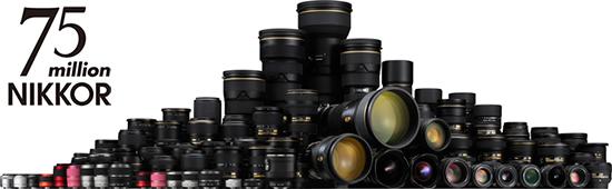 Общий объем производства объективов Nikkor достиг 75 миллионов