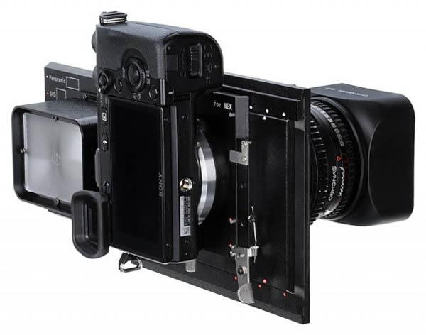 Специальный адаптер от Fotodiox превращает Sony NEX в среднеформатную камеру