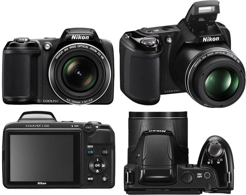 Компания Nikon Inc. анонсировала выпуск компактной цифровой камеры Coolpix L320 категории «суперзум»