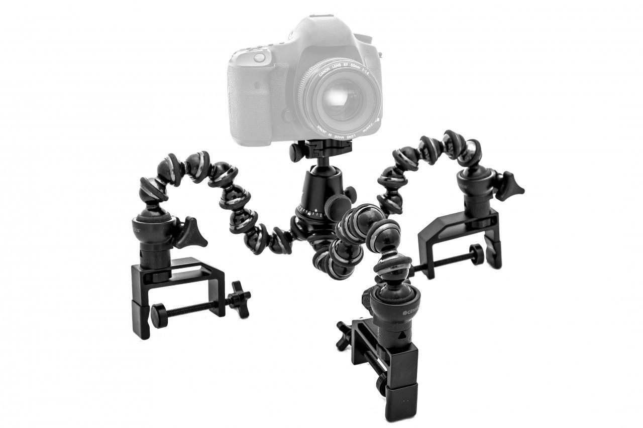 Усовершенствованный держатель для фототехники от Cinetics можно установить в любом месте