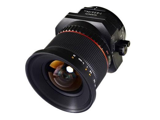 Уже в мае появится в продаже объектив Rokinon T-S 24mm F3.5 для фотокамер Nikon и Canon