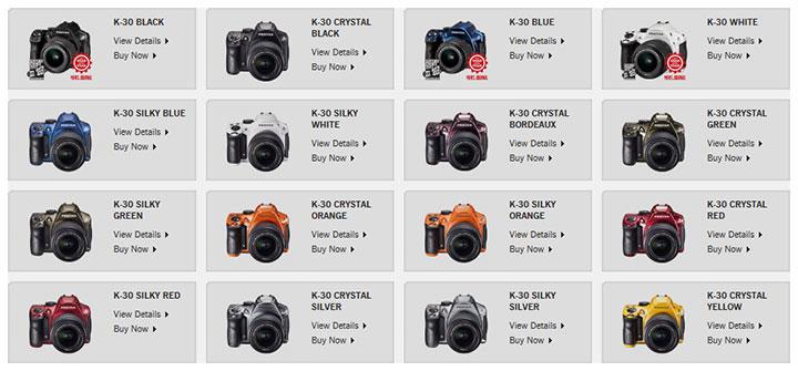 15 новых цветов для Pentax K-30