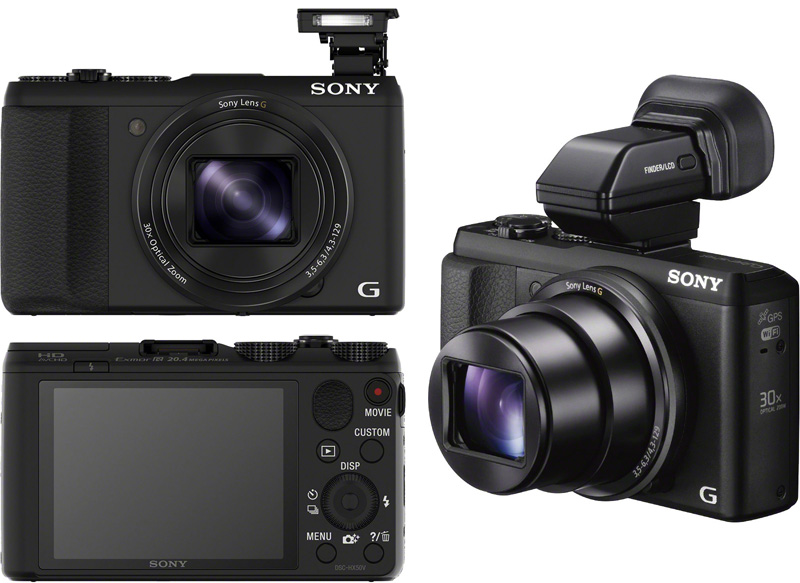 Sony анонсировала выпуск, самой тонкой и самой лёгкой компактной цифровой камеры Cyber-shot DSC-HX50V