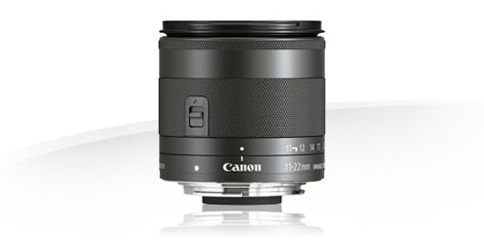 В объективе Canon EF-M 11-22mm f/4-5.6 IS STM используется технология шагового двигателя (STM)