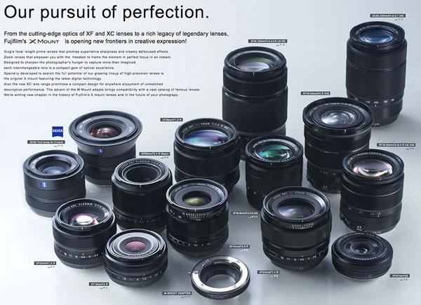 Планы компании Fujifilm на ближайшие месяцы включают выпуск до января 2014 года еще двух объективов семейства XF