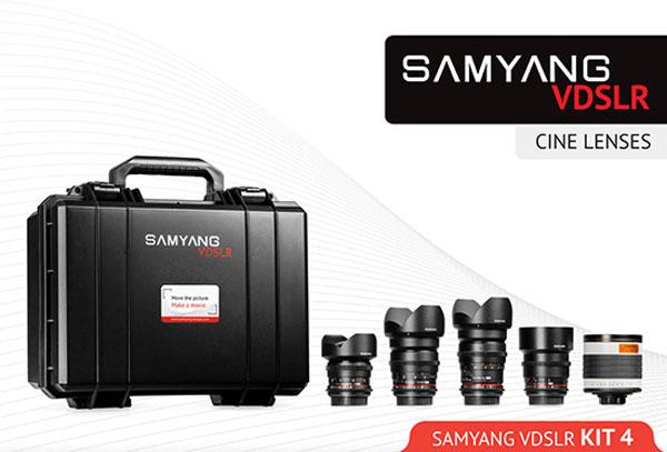 Samyang выпускает четыре набора объективов