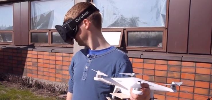 Разработчики из Норвежского университета науки и технологии в Тронхейме создали прибор на основе популярного квадролёта DJI Phantom и очков Oculus Rift