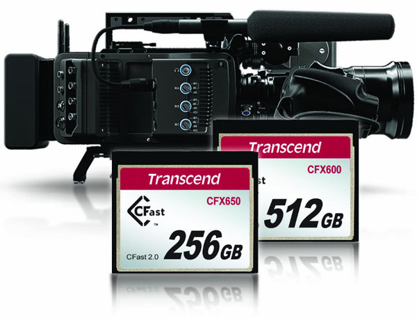 Компания Transcend представила карты памяти CFX650 и CFX600, соответствующие спецификации CFast 2.0