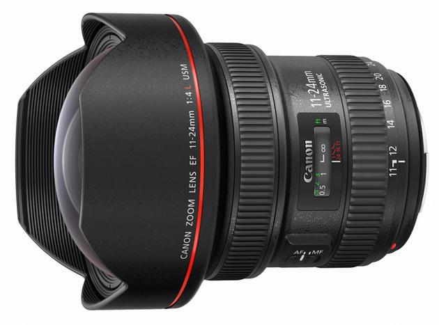 Компания Canon представила объектив EF 11-24mm f/4L USM