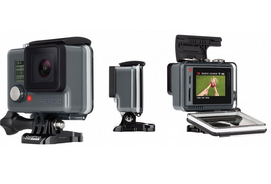 Компания GoPro представила новую модель с интегрированным дисплеем HERO+ LCD