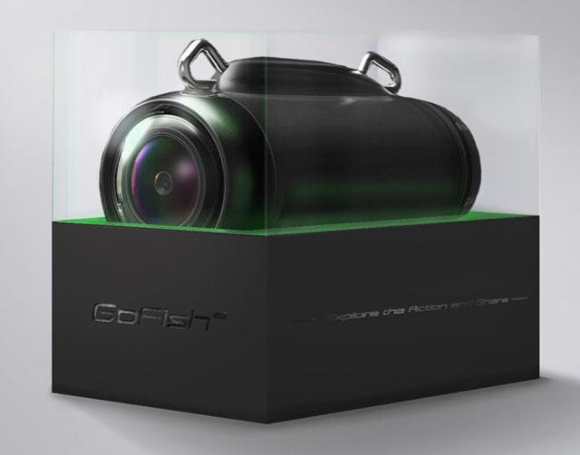 Камера  «GoFish Cam» крепится прямо на леску и может снимать на глубине до 100 метров