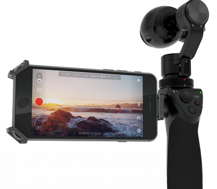 Компания DJI представила новую разработку — камеру Osmo для съемки плавного видео без дрожания и без штатива