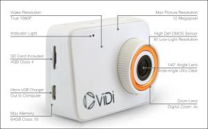 На краудфандинговом ресурсе Kickstarter с успехом профинансирован проект «народной» экшен-камеры ViDi