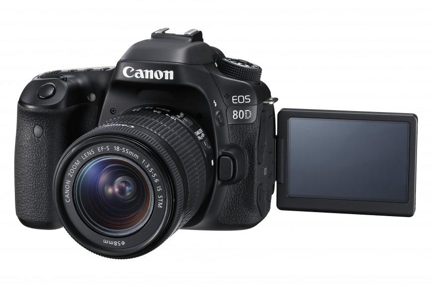 Компания Canon представила новую зеркальную камеру EOS 80D