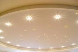 Светильники и другие украшения для натяжных потолков