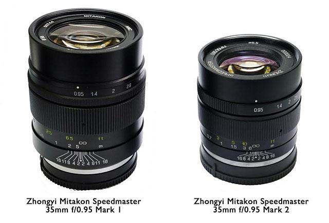 Китайская компания ZY Optics анонсировала Zhongyi Mitakon Speedmaster 35mm f/0.95 Mark II