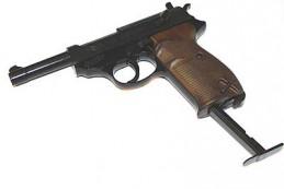 """Мощный пневматический пистолет """"Вальтер П-38""""."""