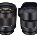 Компания Samyang выпустила две модели с фиксированным фокусным расстоянием: 50mm f/1.4 и 14mm f/2.8
