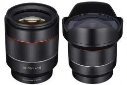 Компания Samyang представила полнокадровые автофокусные объективы 50mm f/1.4 и 14mm f/2.8 с креплением Sony E