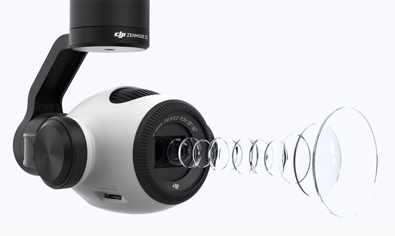 DJI анонсировала камеру Zenmuse Z3