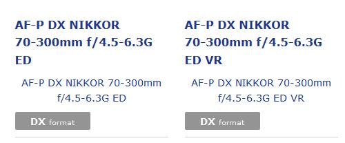 В каталоге объективов на сайте Nikon некоторое время назад можно было видеть две новые позиции