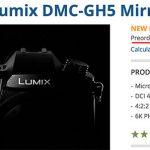 Магазин B&H проговорился о дате анонса камеры Panasonic Lumix DMC-GH5