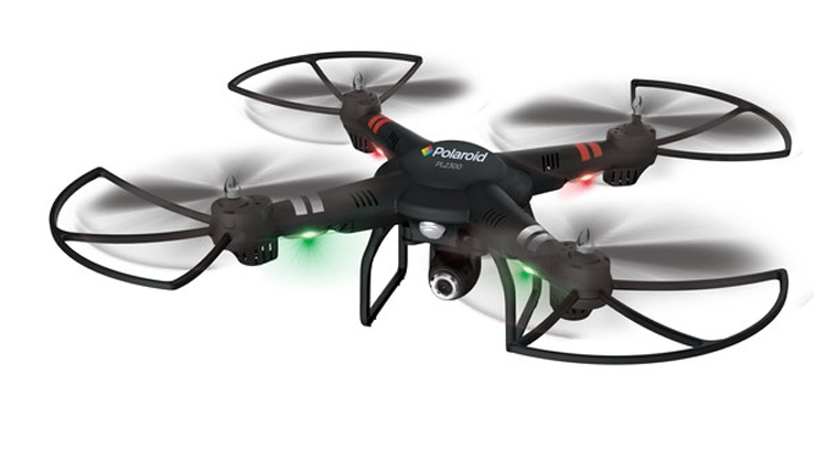 Компания Polaroid представила три новых беспилотных летательных аппарата — модели PL2500, PL2300 и PL1000 серии Camera Drone