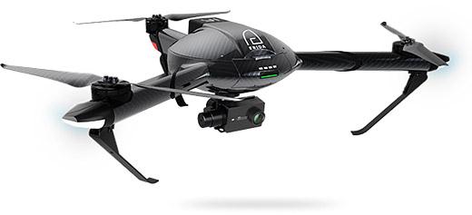 Дрон YI Erida описывается как «умный дрон» с корпусом, изготовленным полностью из углеволокна