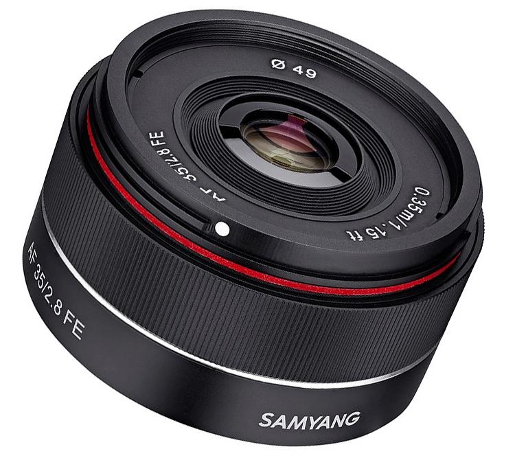 Объектив Samyang AF 35mm F2.8 FE рассчитан на камеры Sony E Mount