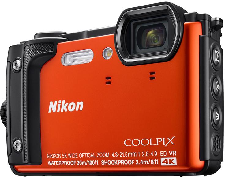 Камера в защищенном исполнении Nikon Coolpix W300 снимает видео 4К