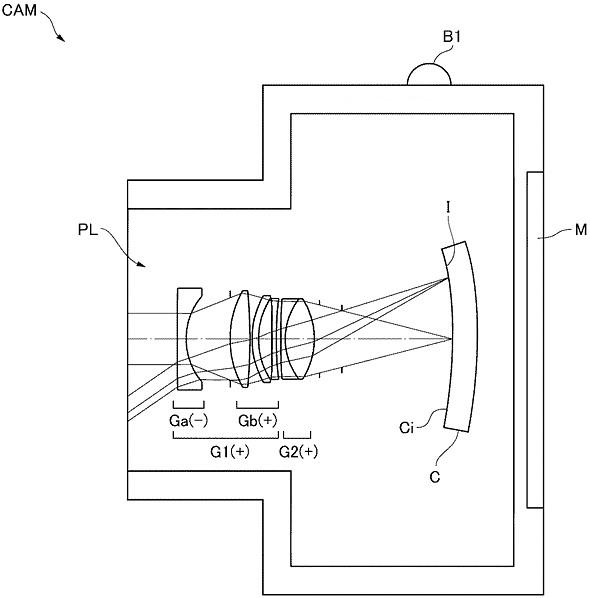 Nikon патентует объектив для полнокадровой камеры с вогнутым датчиком изображения