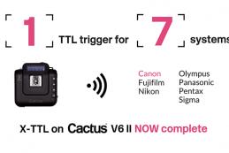 Cactus добавляет TTL для вспышек Canon