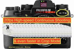 Fujifilm X-T3 сможет снимать 20 кадров в секунду