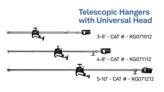 Телескопические кронштейны-держатели Kupo Telescopic Hanger with Universal Head