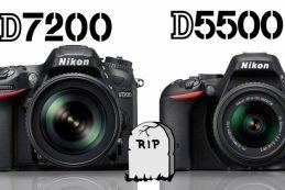 Nikon D5500 и D7200 сняты с производства