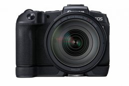 Новое изображение Canon EOS RP с бустером EG-E1