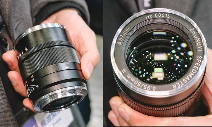 Первые изображения объектива Zhongyi 50mm f/0,95III