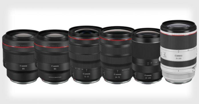 Canon запатентовали три телеобъектива для RF-mount