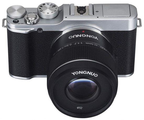 Представлен объектив Yongnuo 42.5mm f/1.7 m4/3 за 79 долларов