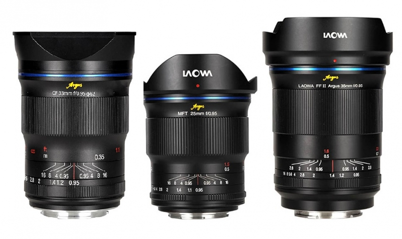 Спецификации Laowa Argus 25mm, 33mm и 35mm f/0.95