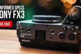 Новая информация о Sony FX3