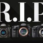 Sony прекратила выпуск своих зеркалок