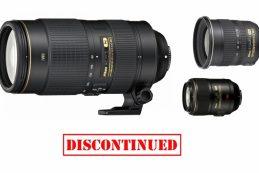 Еще три объектива Nikon с байонетом F сняты с производства